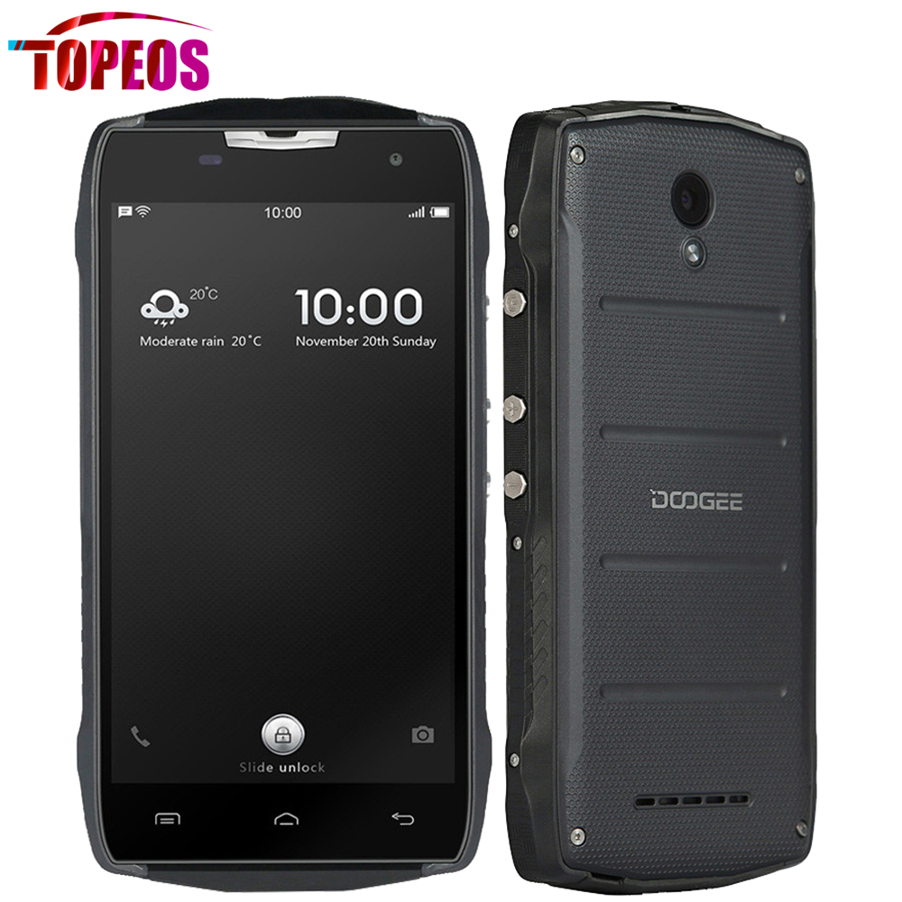 Original Doogee T5S 5.0inch IP67 Waterproof Mobile Phone MT6735 Quad Core 2GB RAM 16GB ROM Android 6.0 HD 1280*720 4500mAh