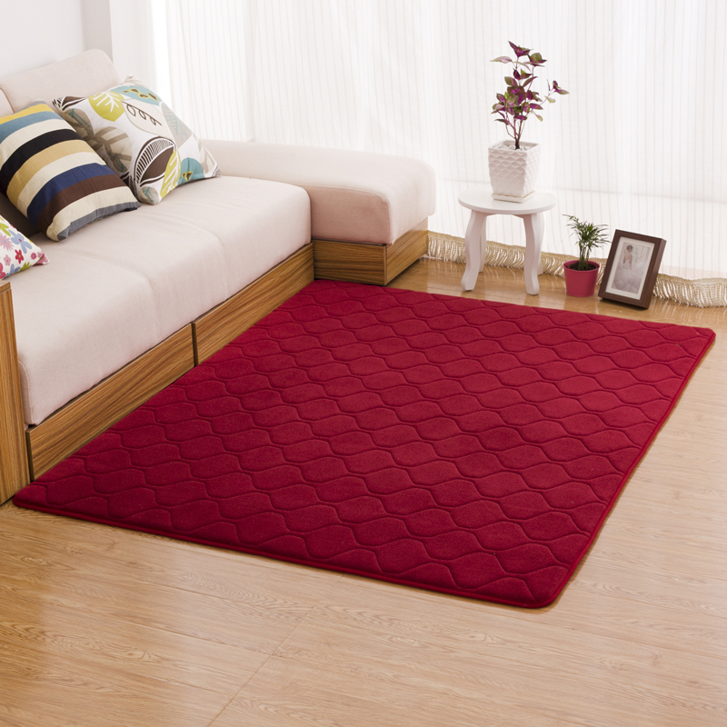 200x300cm Diamond Coral Velvet Carpets For Living Room
