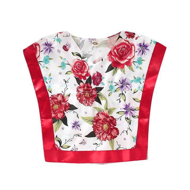 Pudcoco 2019 ילדים פעוט תינוקת נסיכת חולצה למעלה הדפסת נסיכת קיץ פרחוני תלבושות בגדים