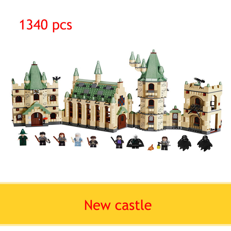 hot  sell 1340pcs Movie Series Harry Potter Hogwarts Castle Building Blocks Bricks Kits Compatible 4842 Toys Children new Gifts 1033pcs lepin 16029 harry potter magic hogwart s castle figure blocks compatible 5378 construction building toys for children