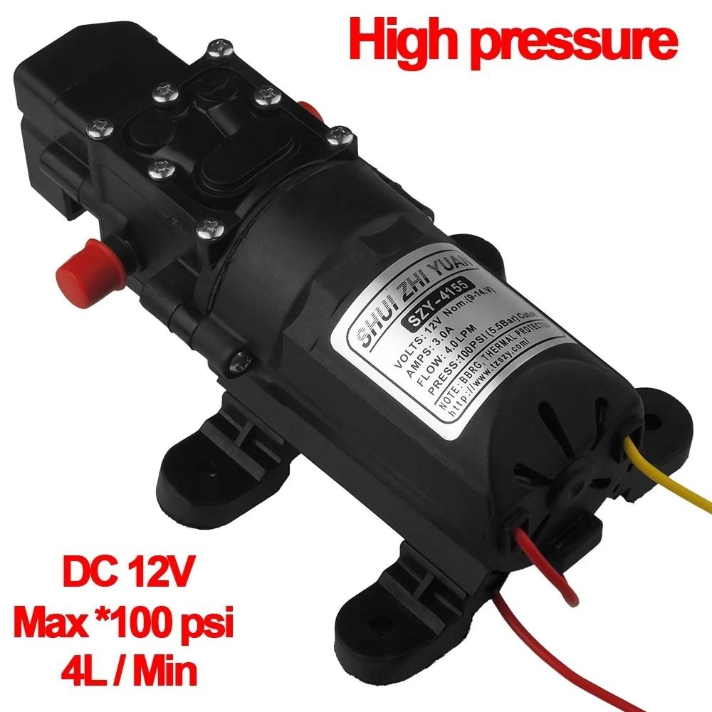 12 V pompe haute pression Pression Pompe à eau 17l//min Constant stable Pompe à eau DHL