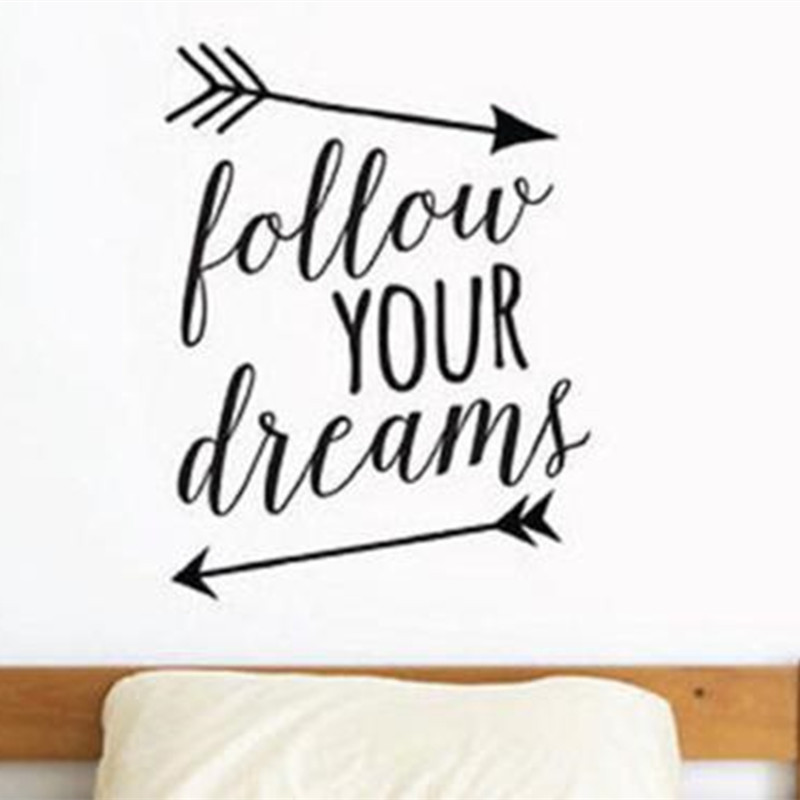 online shop d222 follow your dreams arrows words lettering vinyl