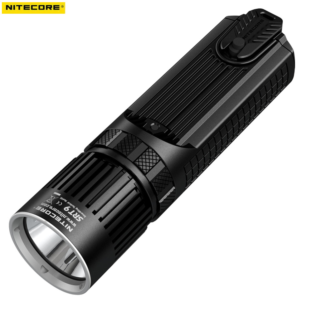 Tactical Flashlight NITECORE SRT9 CREE XHP50 LED 2150 lumens With Red/Blue Warning Light beam throw 246 meters hunging torch nitecore srt9 2150 lumens with red blue warning light cree xhp50 led gear hunting law enforcement military flashlight lantern