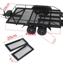 Trailer Auto Zware Cargo Carrier Metalen Kit voor 1:10 Traxxas RC Auto HSP Redcat RC4WD Tamiya Axiale SCX10 d90 HPI RC Crawler(China)