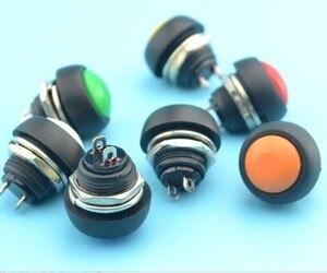 Image 1 - 50pcs 12mm round button switch push button switch Momentary Push Button Horn Switch