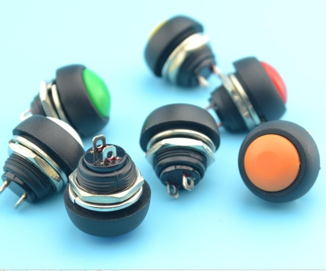 50pcs 12mm round button switch push button switch Momentary Push Button Horn Switch