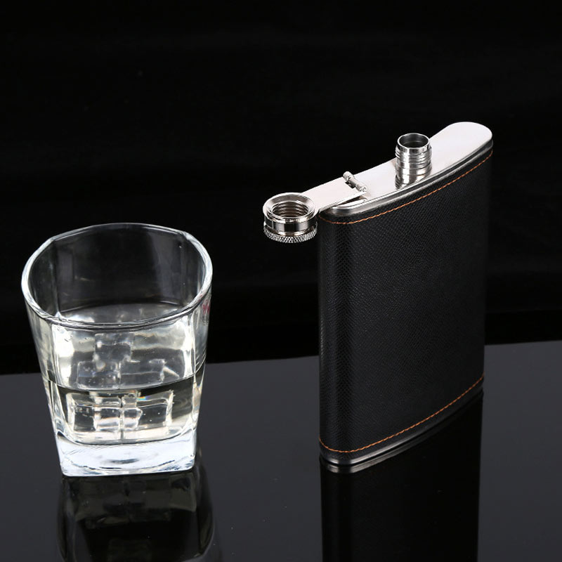 Leather Flask Stainless Steel Kit 1