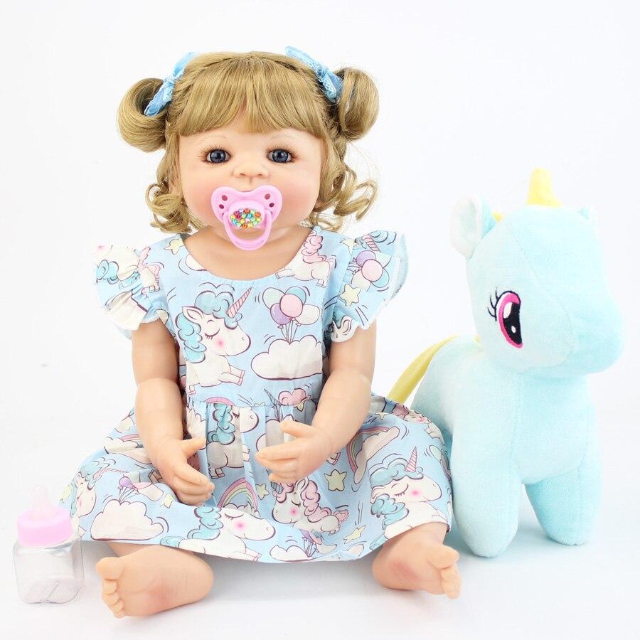 55cm corpo de silicone completo reborn boneca do bebe brinquedo para a menina vinil recem nascido