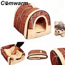 Домашнее животное собачий домик будка гнездо с ковриком Складная Собака Кошка Кровать дом собаки путешествия домашнее животное продукт