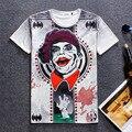 2016 Новые мужчины мальчик футболка Повседневная 3d Бэтмен/Капитан Америка/клоун хип-хоп марка одежды футболка футболки мужчин swag забавный т рубашки