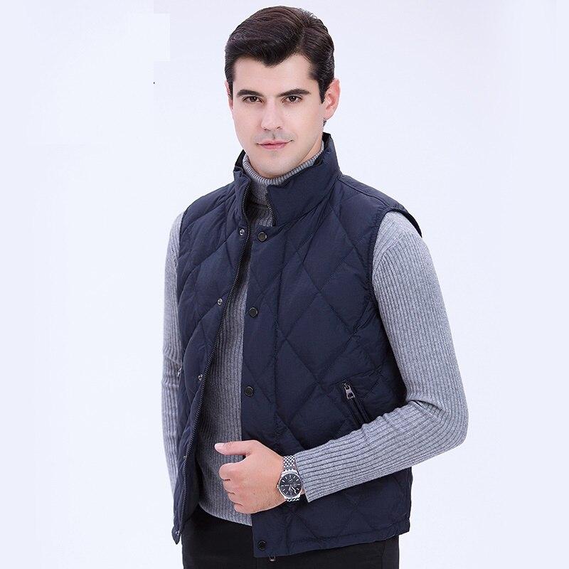 deep Blanco Los Outwear Abrigos Plumas Chaleco De Green Black Caliente Blue Para oliver Pato Hombres UOqASwO