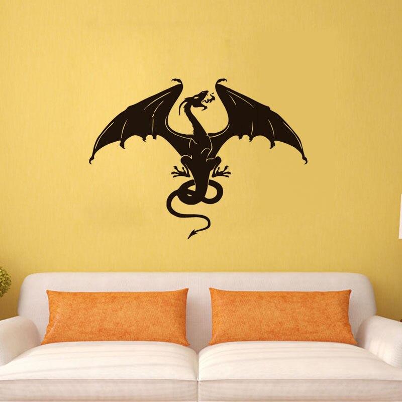Aliexpress.com : Buy Fashion Design Dragon Wall Sticker Fantasy ...