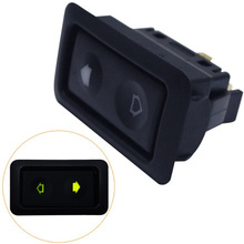 Universal 1pc 20A Electric Power Window Switch Button For All Autos with Green LED Light Car Button Switch 12V/24V Car Acessorie цена