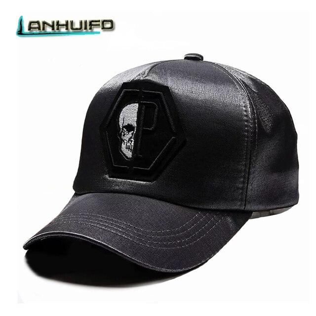 LANHUIFD marca Skull bordado Snapback gorra de béisbol parejas Hip Hop  gorra mujer hombres regalo Monster 870e8e3e0302