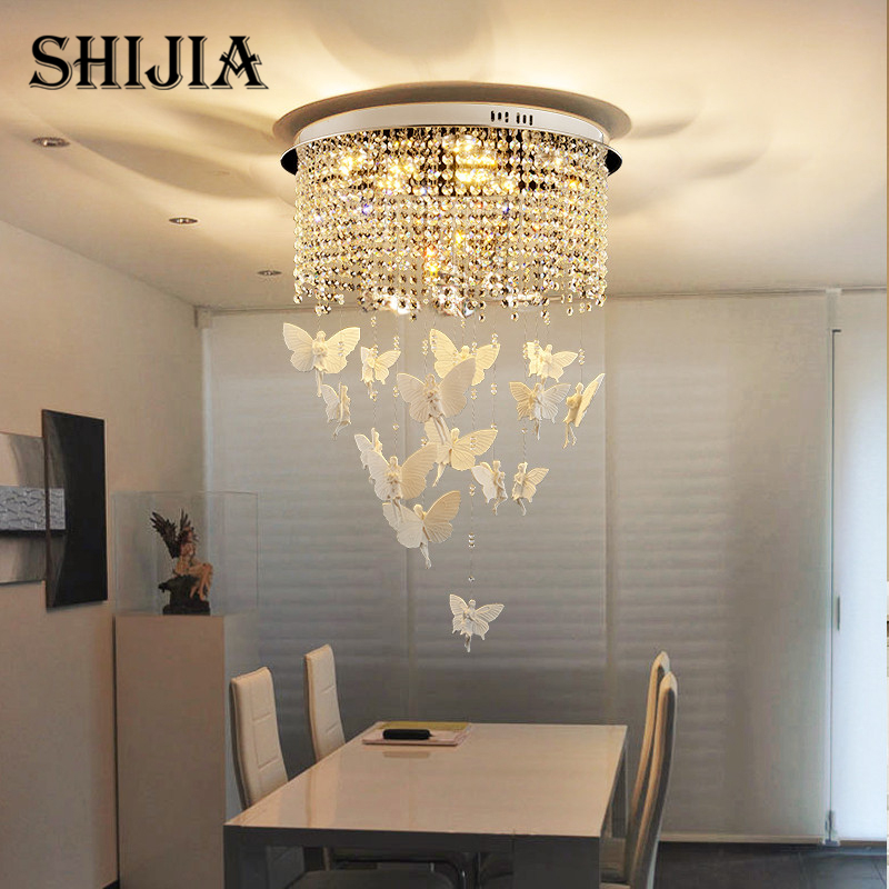 Free Fast Shipping in stock New Angel Creative crystal Chandeliers Modern crystal ceiling lamp Dia 400mm + Light remote control new in stock 4r3ti20y 080