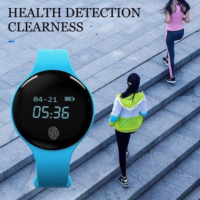 1 шт. для женщин мужчин Смарт часы Bluetooth мониторинга сна калорий Дисплей силиконовый ремешок для мальчика/Подарки для подружки дропшиппинг LXH