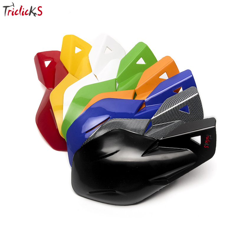 Triclick Universal Motorcycle ABS Hand Guards ATV Bike Handguards 22mm 7/8 Handlebar Hand Guard Protector Left Right Handguard цена