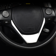 free shipping quality bt steering wheel switches control mode for toyota corolla rav4 2014 2015 car styling Fit For Toyota Corolla 2014 2015 2016 ABS Matte Inner Steering Wheel Decoration Cover Trim Stiker Car styling Accessories