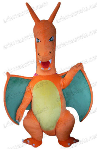 Am0246 Pokemon Mega Charizard Mascot Costume Cartoon Character
