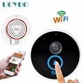 Wi-fi sem fio mini câmera ip 720 P HD Vídeo campainha do telefone da porta interfone IR night vision áudio SD tf cartão inteligente campainha da porta