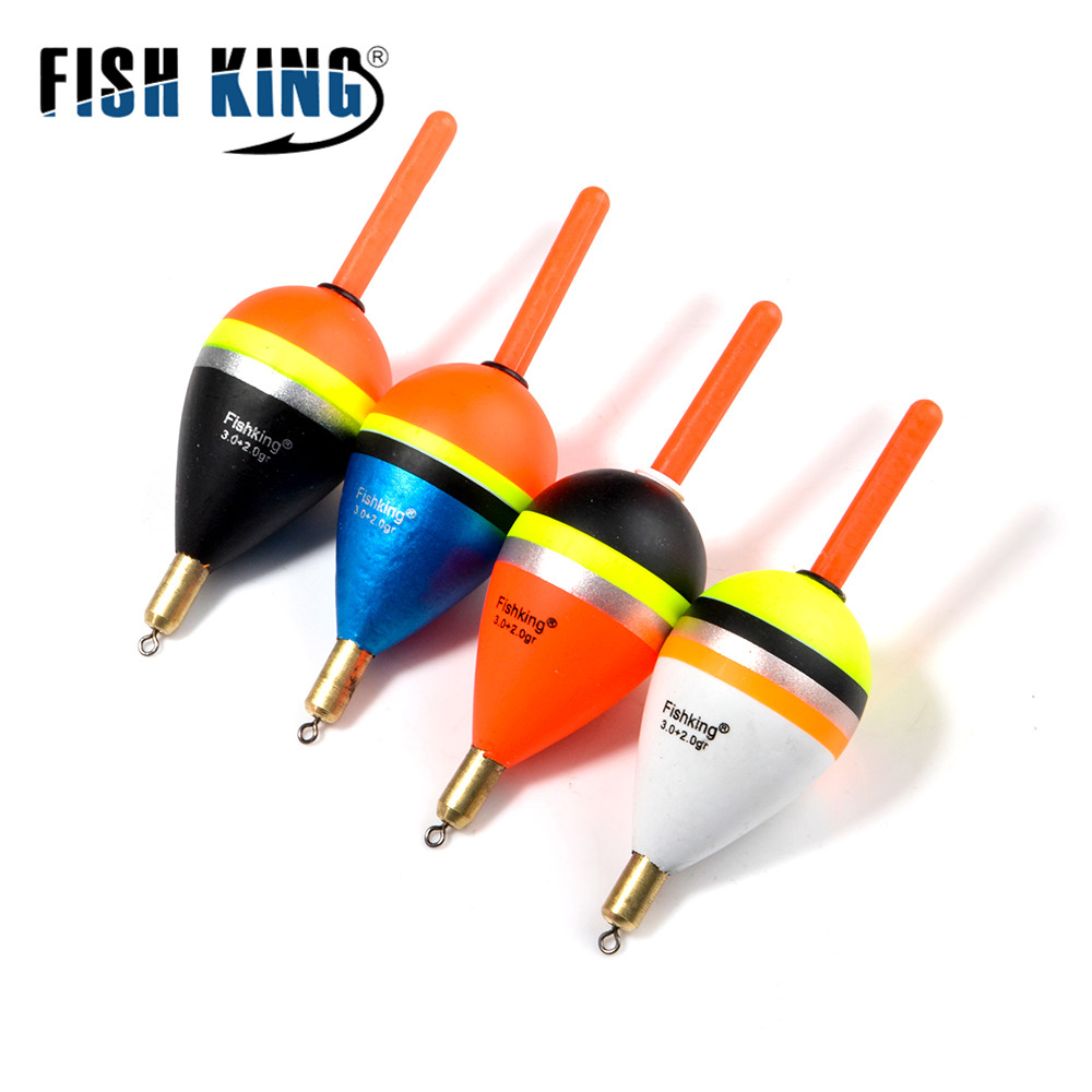 FISH KING 5pcs Mix Size Color Articulos De Pesca Carp Fishing Tackle Accessories For Bobber Set Buoy Boia Floats flotador