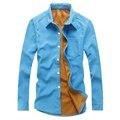 HCXY 2016 зима вельвет с длинными рукавами мужские рубашки бизнес случайные утолщенной босс муёчин фланелевую рубашку тепло важно 5 цветов