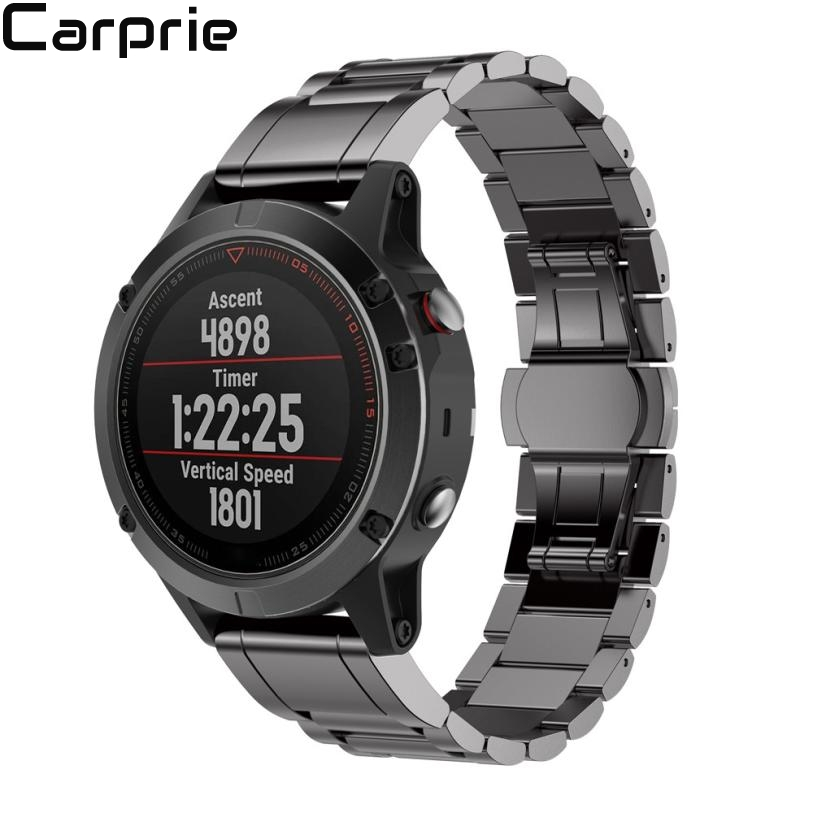 Best price ! Genuine Stainless Steel Bracelet Quick Release Fit Band Strap For Garmin Fenix 5 GPS Watch dropshipping 40jul1