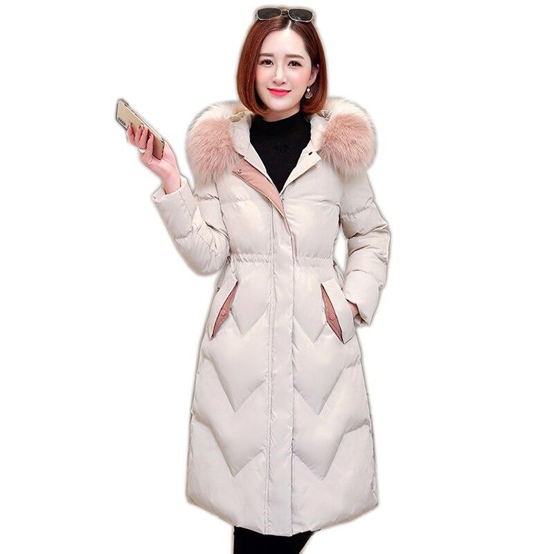 Hooded Fur Collar Winter   Down     Coat   Jacket Long Warm Women Casaco Feminino Abrigos Mujer Invierno 2019 Parkas Outwear   Coats