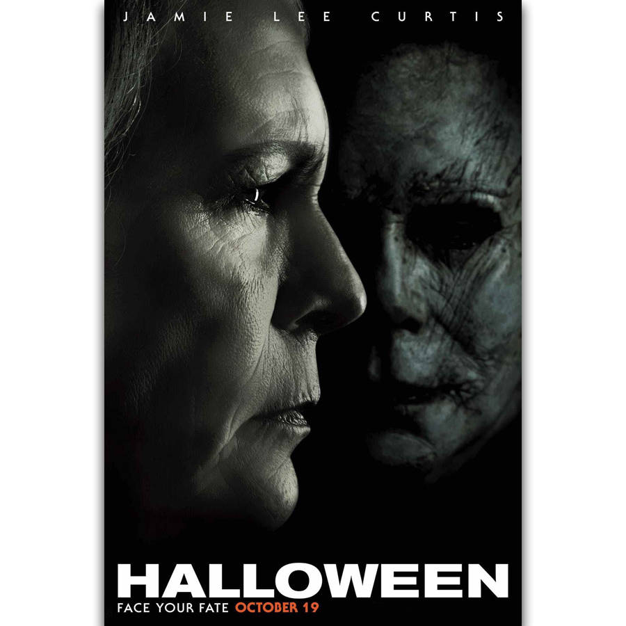 Halloween Movie Poster 2018.S2914 Halloween Movie Poster Laurie Strode Horror 2018 Film Wall Art Painting Print On Silk Canvas Poster Home Decoration