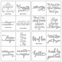 Mixed Daily Letters Words Shape Metal Cutting Dies Stencil Scrapbook Album Embossing For Gift Card Making Handcraft  New Arrival