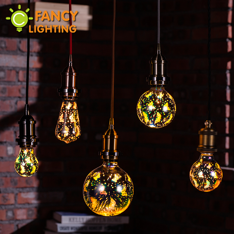 Led bulb 3D Butterfly led lamp E27 decorative lamparas for home living/dining Room cafe christmas decoration holiday light bulb