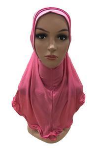 Image 3 - มุสลิมผู้หญิง Amira Frill ผ้าพันคอ Hijab ห่อหัวเต็มรูปแบบหมวกผ้าคลุมไหล่อิสลามอาหรับคอสวดมนต์หมวก Turban headscarf ใหม่