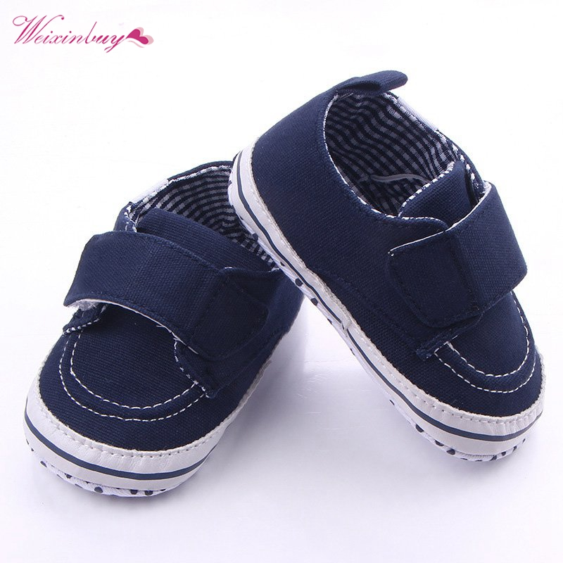 Double Stick Patch Style Baby Boys Lovely Shoes Soft Bottom Kids Infants Toddler First Walkers QF