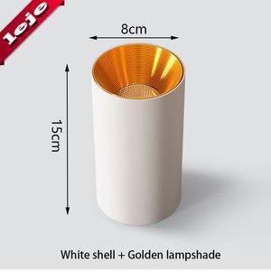Image 5 - Montaj yüzeyi fuaye/balkon/koridor/yatak odası/restoran kısılabilir 7W 10W silindir Spot LED tavan işık 8*15cm
