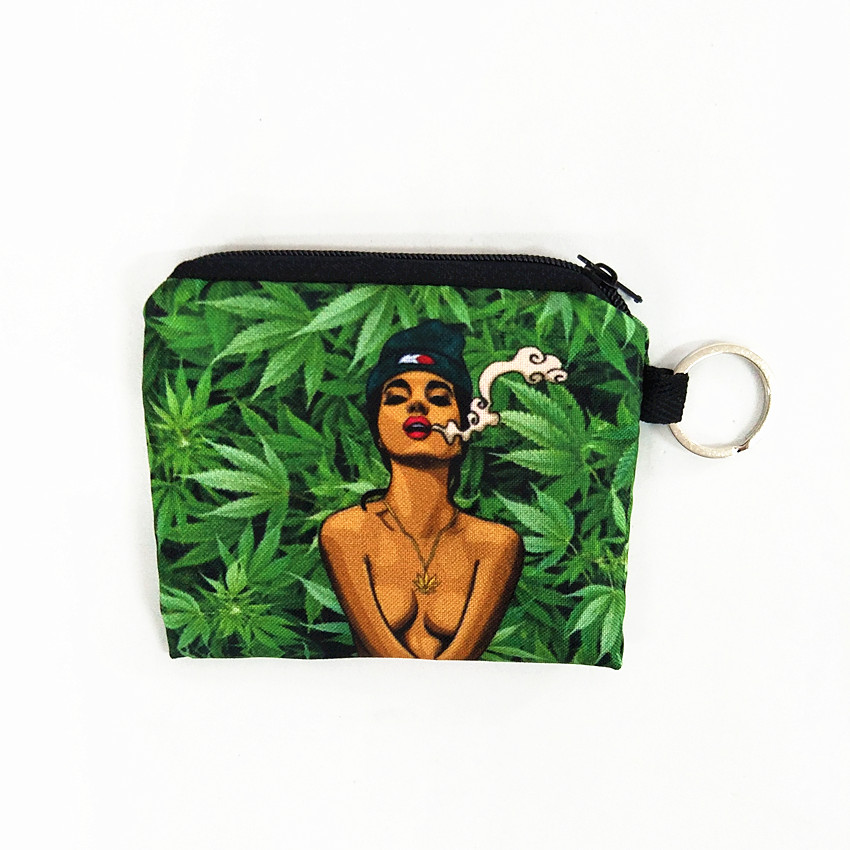 M255 2017 The New 3D Small Purses Woman In The Forest Smoking Lady Wallet Multifunction Key Coin Bag Children Bag Women Cute Bag