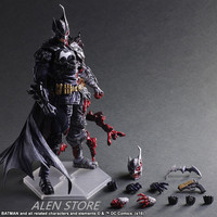 ALEN Batman Figure Gogues Gallery Two Face Batman Play Arts Kai Play Art KAI PVC Action Figure Bat Man Bruce Wayne 27cm Doll Toy