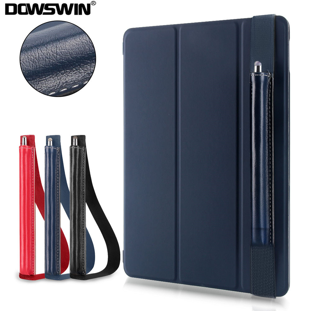 DOWSWIN Case For New iPad 9.7 2017/2018 PU Leather Smart Cover With Stylus Pen Case Cover For iPad 9.7 Case 2017 A1822