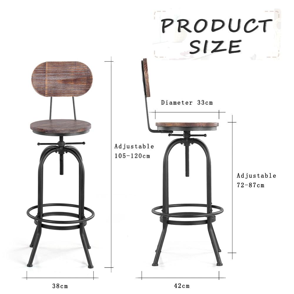 Ikayaa Style Bar Stool Height Adjule Swivel Chair