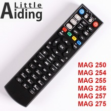 Controle remoto para mag250 mag254 mag255 mag 256 mag257 mag275 com função de aprendizagem de tv, controlador para caixa de tv linux, caixa de iptv.