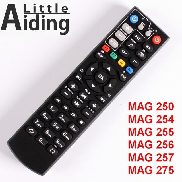 Pilot zdalnego sterowania dla MAG250 MAG254 MAG255 MAG 256 MAG257 MAG275 z telewizorem funkcję uczenia się, kontroler dla systemu Linux TV, pudełko, IPTV Box Tv, pudełko.