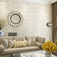 Modern Simple 3D Embossed Imitation Brick Non Woven Wallpaper Living Room Study Background Wall Home Decor