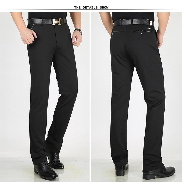 HTB11P1mX.zrK1RjSspmq6AOdFXa8 Classic Pants Men Suit Dress Casual Pants Men Straight Fit Business Work Office Formal Pants Big Size Autumn Men's Trousers Male