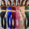 2016 Hot Tie Dye Flared Trousers High Waist Wide Leg Long Pants Trousers with Crop Top