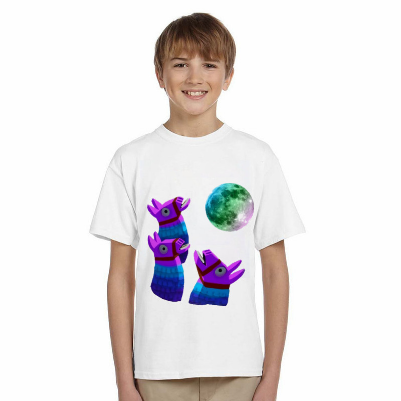 LYTLM Kids Fortnite Shirts Game T-shirt Kids Girls Summer Short Tee Tops Kids Clothing for Girls 100% Cotton Baby T Shirt 2018