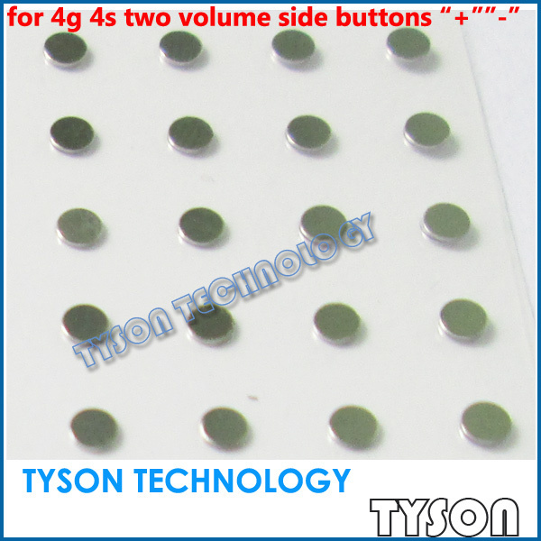 """Iron Shim Filling Spacer Gasket Cushion Sticker for iPhone 4 4g 4s Volume Side Buttons """"+"""" """"-"""" Free Shipping"""