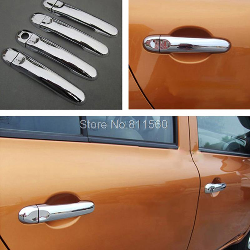 For NISSAN VERSA TIIDA LATIO CUBE JUKE Second generation(C12; 2011-2015) Chrome ABS Door Handle Cover moulding Trim