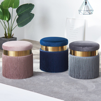 H 2019 Nordic Dresser Makeup Stool Modern Sofa Foot Stool Creative Stool Fabric Change Shoes Stool Simple Chair Home Furniture