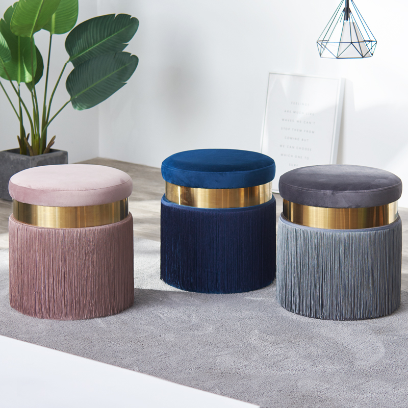 H 2019 nordique commode maquillage tabouret moderne canapé pied tabouret créatif tabouret tissu changement chaussures tabouret Simple chaise meubles de maison