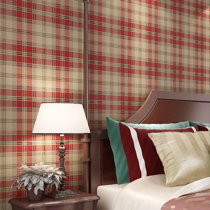 US $31.96 32% OFF|England gitter tapete Britischen Amerikanischen  pastoralen Schottischen plaid vlies tapete wohnzimmer moderne schlafzimmer  tapete-in ...