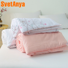 Svetanya Thin Throws Blanket Spring quilted Quilt Plaids White